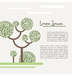 Card with a picture of a green tree vector image vector image