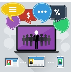 Concept of online meeting conference webinars vector