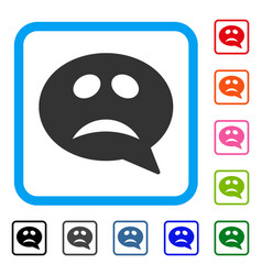Crisis smiley message framed icon vector