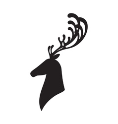Deer head isolated elk vector
