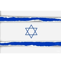 Design flag israel from torn papers with shadows vector