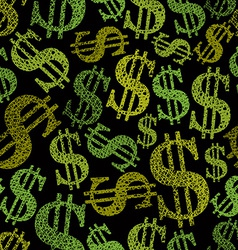 Dollar symbols seamless pattern money theme vector image