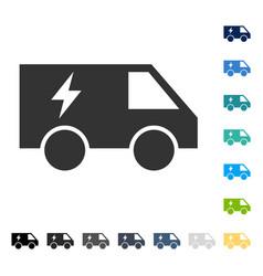 Electric power car icon vector