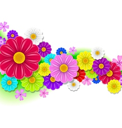 floral background of flowers vector image