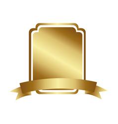 Golden decorative heraldic rounded rectangle frame vector