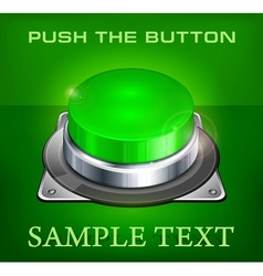 Green buttons vector image vector image