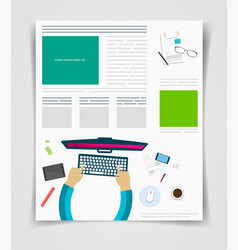 layout business flyer or brochure technology vector image vector image