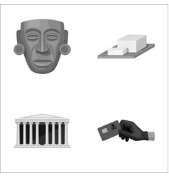 mask cheese and other monochrome icon in cartoon vector image vector image