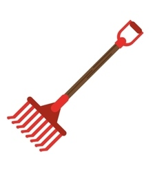 Rake tool of farm design vector