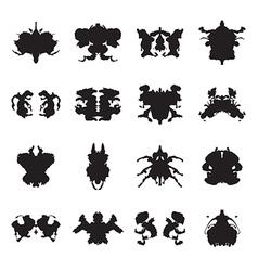 Rorschach test inkblots vector