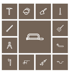 set of 13 editable apparatus outline icons vector image