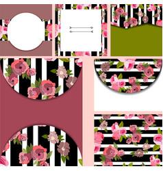 set of templates for cardsbirthdayinvitation vector image vector image