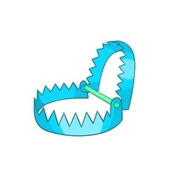 Sharp metal trap icon cartoon style vector image