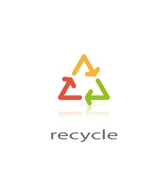 sign recycle vector image vector image