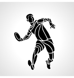 Sportsman throwing frisbee vector image vector image