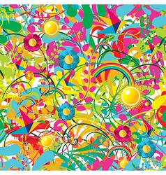 Vibrant floral summer pattern vector image vector image