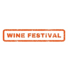 Wine festival rubber stamp vector