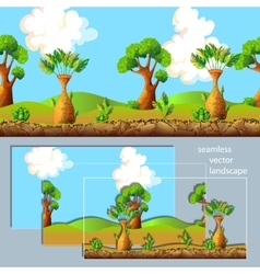 Cartoon Landscape Separated Layers Composition vector image