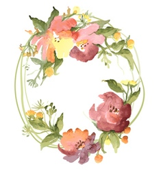 Flowers wreath vector