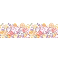 Sweet flowers horizontal seamless pattern vector