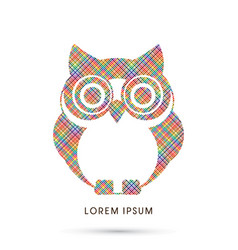 Owl front view vector