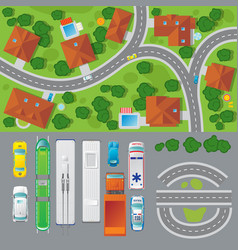 city landscape top view concept vector image