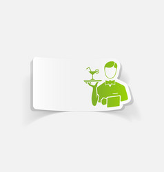 Realistic design element waiter vector