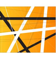Orange criss cross vector