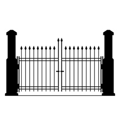 Metal gate silhouette vector