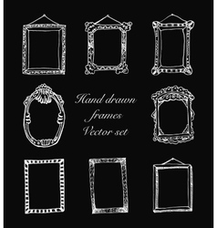 Hand-drawn frames vector