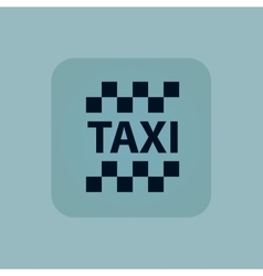Pale blue taxi icon vector