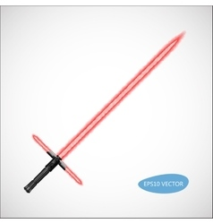 Red light saber vector