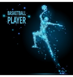 Basketball player polygonal vector