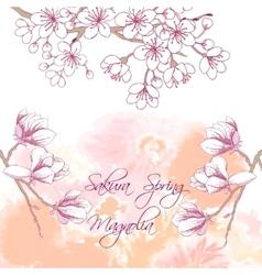 Sakura and Magnolia vector image