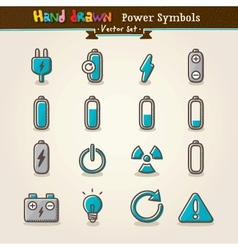 Hand draw power symbols vector