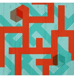 Abstract retro background in form of labyrinth vector image