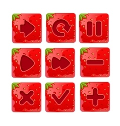 a set Cartoon red buttons vector image vector image