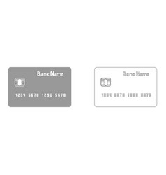 bank cit card the grey set icon vector image vector image