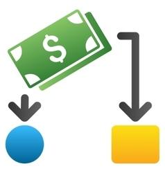 Cash flow gradient icon vector
