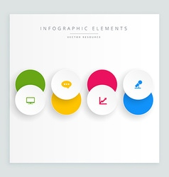 Circles button with icon infograph vector