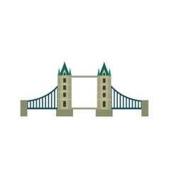 Classic British bridge icon vector image