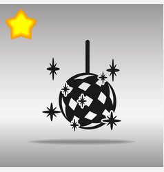 disco ball black icon button logo symbol vector image