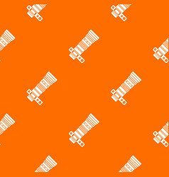Dslr camera with zoom lens pattern seamless vector