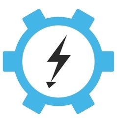 Electric energy gear wheel eps icon vector