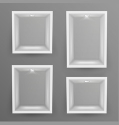 Empty show window niche set abstract vector