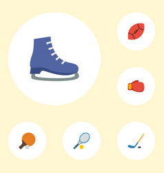 flat icons rocket ice boot boxing and other vector image