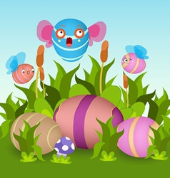 fly eggs vector image vector image