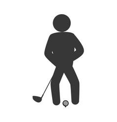 Golf player pictogram vector