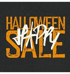 Halloween spider web background halloween sale vector