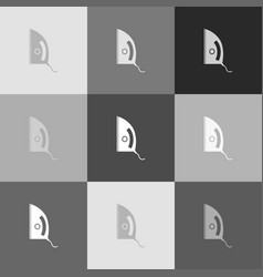 iron sign grayscale version of popart vector image vector image
